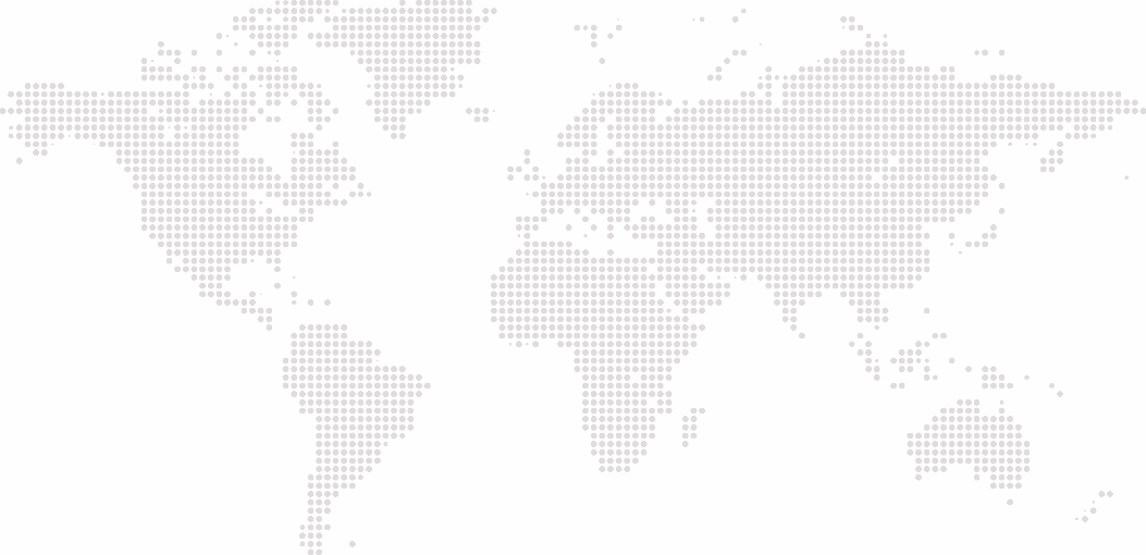 Dotted countries represented in map of the entire world